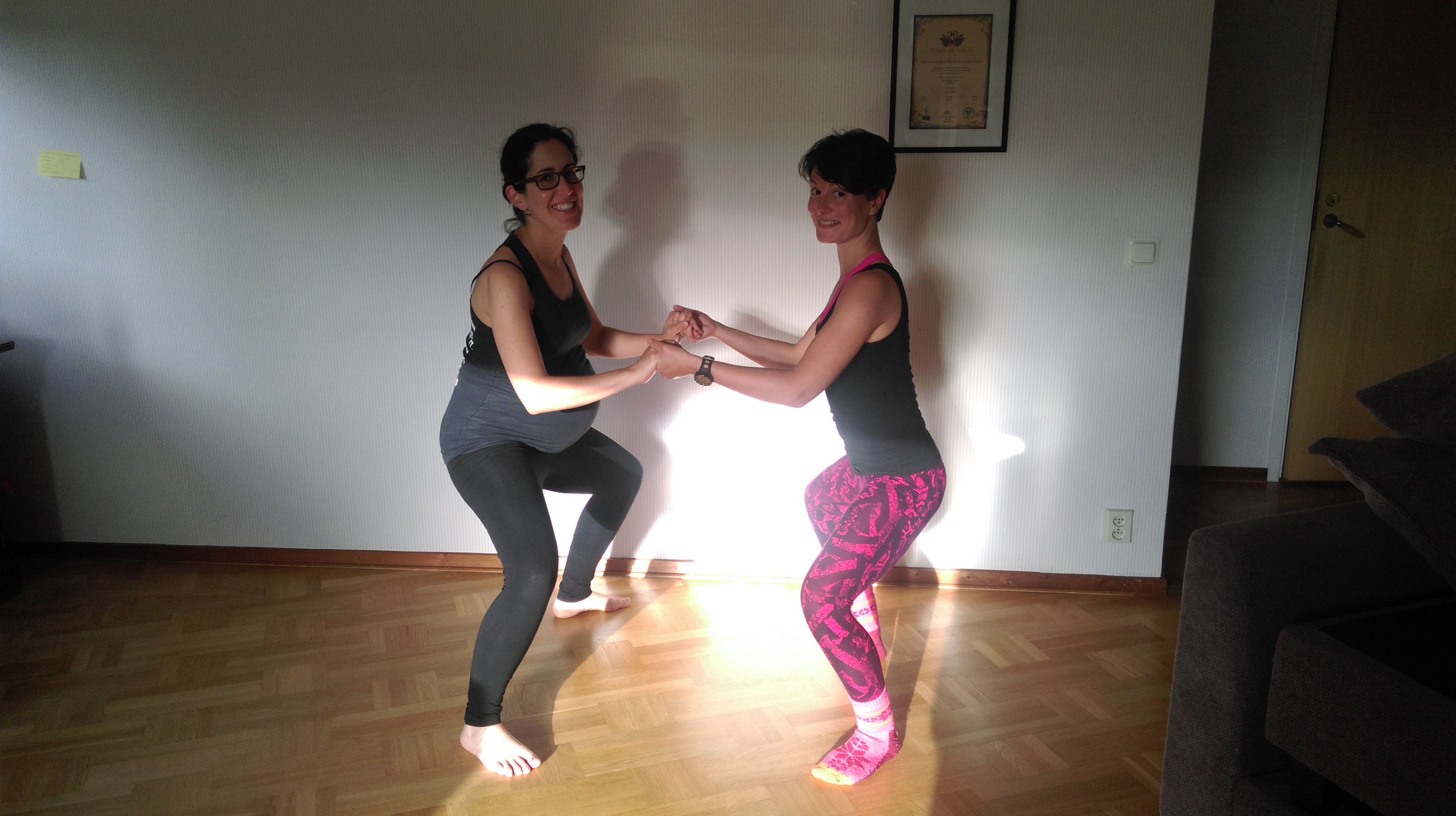 Rocio: Practicing yoga while pregnant