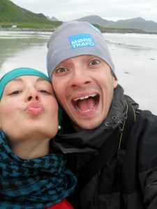 Me and Costel a few years ago, Lofoten Islands, Norway