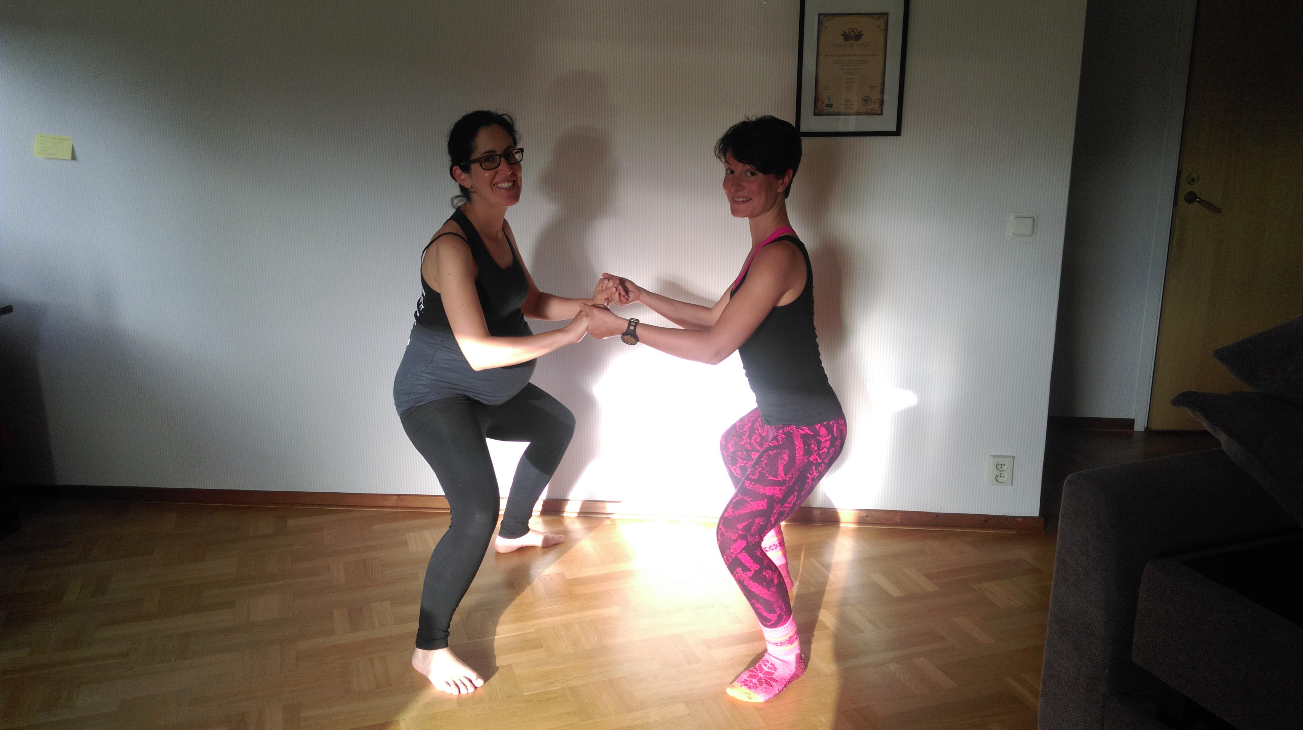 Rocio: Practicing yoga while pregnant