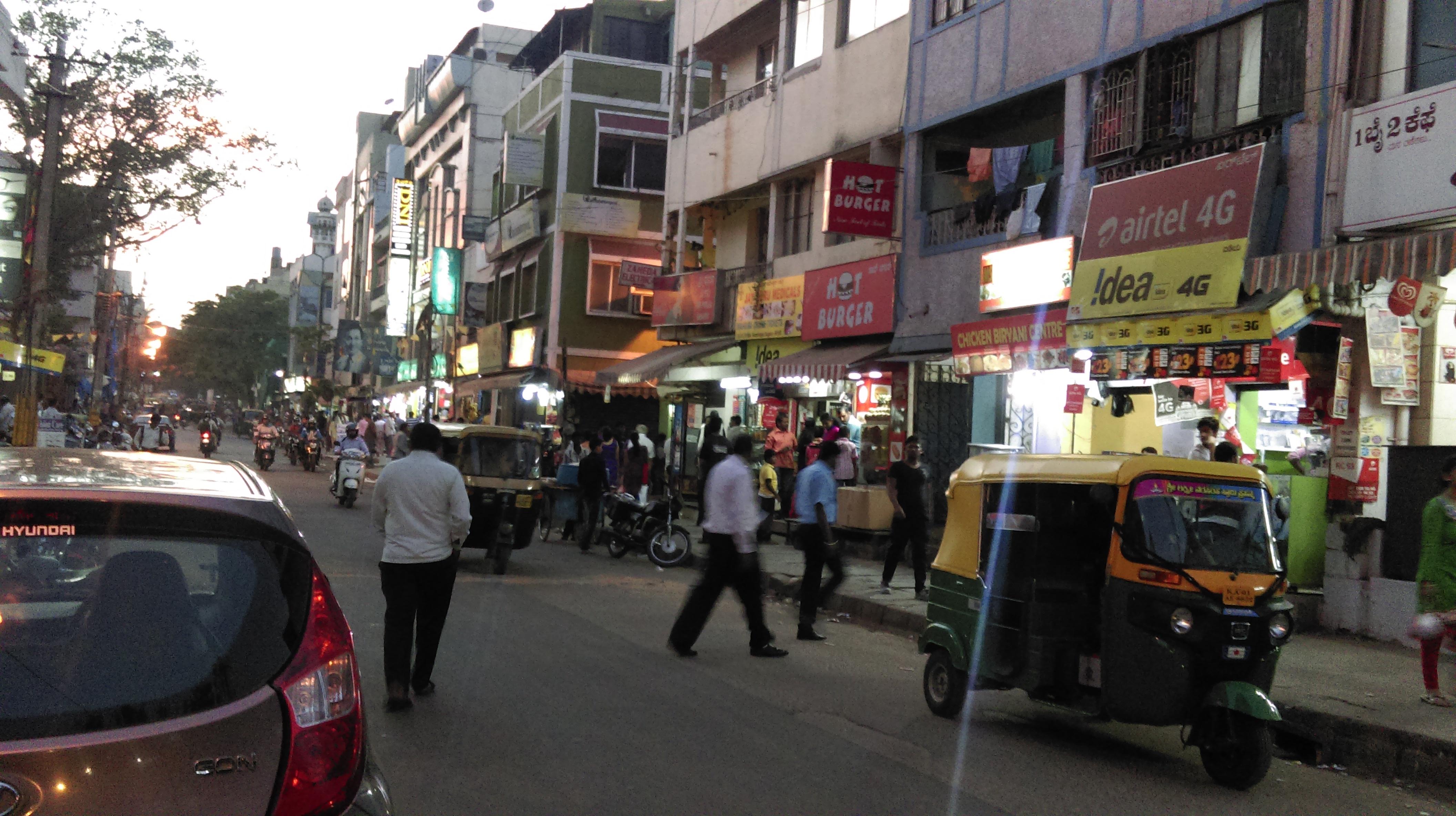Bangalore street, 2016