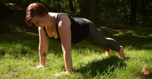 Plank pose yoga