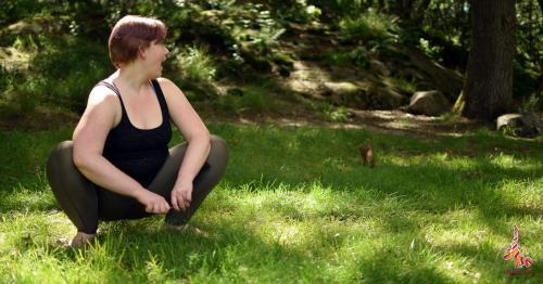 squat yoga pose